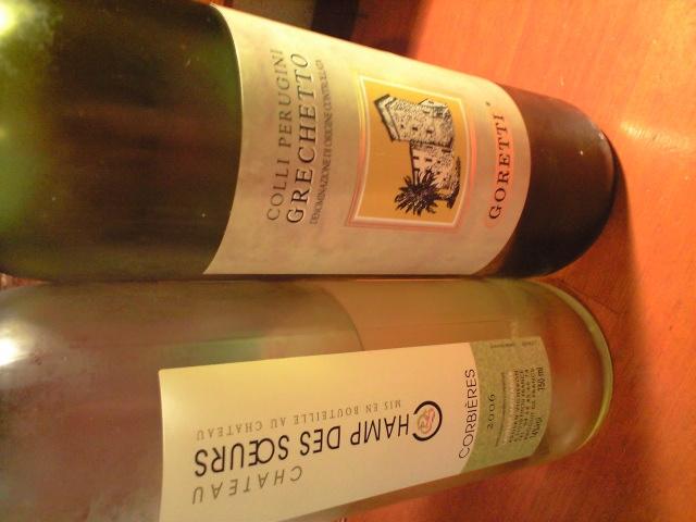 今月の白ワイン、グラス\680